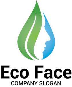 Eco Face Logo Vector