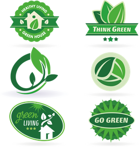eco labels and set Logo Vector