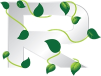 Eco Letter R Logo Vector