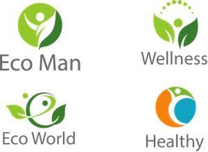 eco man Logo Vector