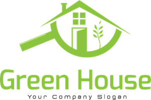 Ecological house Logo Vector