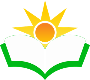 Education Book Sun Logo Vector