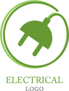 Electrical Plug Logo Vector