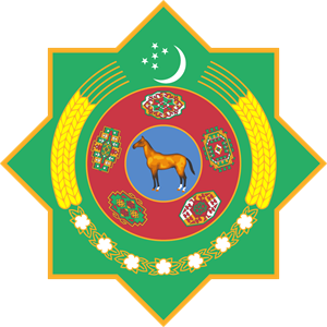 Emblem of Turkmenistan Logo Vector