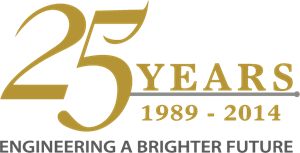 Engineering a Brighter Future 25 years Logo Vector