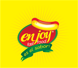 Enjoy Fast Food Logo Vector