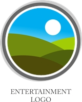 Entertainment Sun Logo Vector