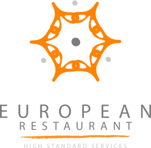 European Restaurant Logo Vector