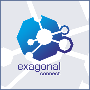 Exagonal Connect Logo Vector