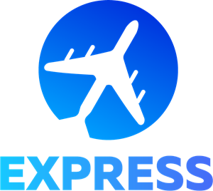 Express Fly Travel Logo Vector