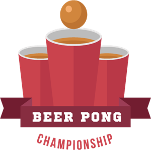 Exquisite commercial beer pong Logo Vector
