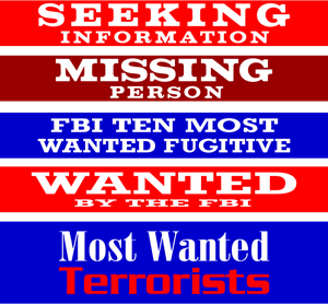 FBI Most Wanted Logo Vector
