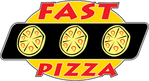 Fast Pizza Logo Vector