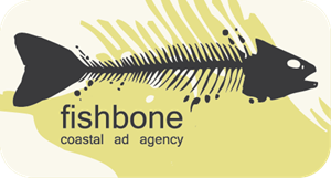 Fishbone Coastal Ad Agency Logo Vector