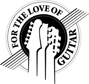For The Love of Guitar Logo Vector
