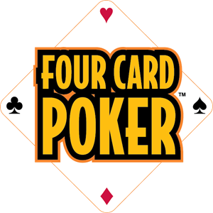 Four Card Poker Logo Vector