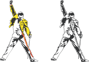 Freddie Mercury tribute Logo Vector