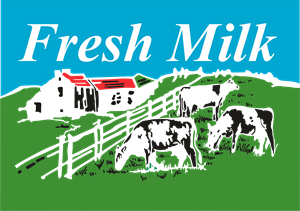 Fresh Milk Logo Vector