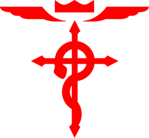 Full Metal Alchemist Cross Logo Vector