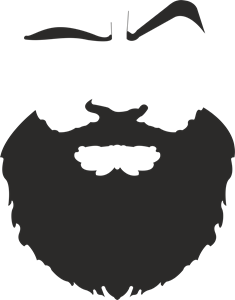 Face Beard Logo Vector