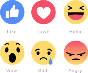 Facebook Emoticons Logo Vector