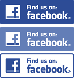 Facebook (Find us on) Logo Vector