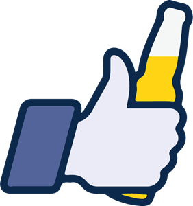 Facebook like beer icon Logo Vector