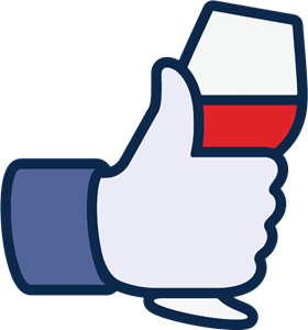 Facebook like wine icon Logo Vector