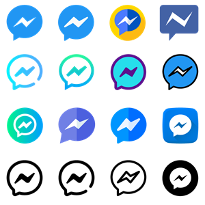 Facebook Messenger Icons Logo Vector