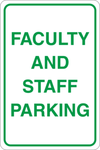 Faculty and staff parking Logo Vector