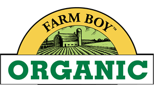 Farm Boy Organic Logo Vector
