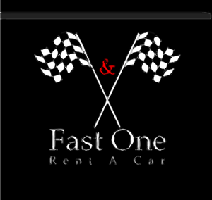 Fast One Rent A Car Logo Vector