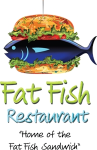 Fat Fish Logo Vector