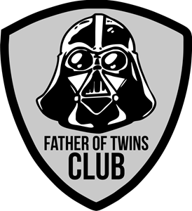 Father of twins CLUB Logo Vector