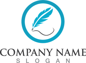 Feather pen company Logo Vector