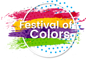 Festival of colors Logo Vector