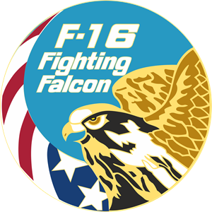 FIGHTING FALCON F16 COAT OF ARMS Logo Vector
