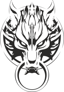 Final Fantasy Advent Children Wolf Logo Vector