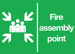 Fire Assembly Point Logo Vector