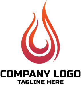 Fire Flame Company Logo Vector