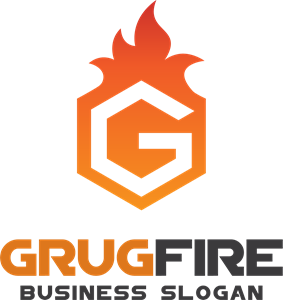 Fire hexagon letter g Logo Vector