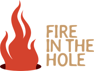 Fire with Flame in a Holeby Logo Vector