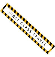 FIRST CLASS TRAVEL STICKER Logo Vector