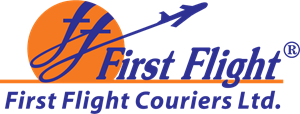 First Flight Couriers Ltd India Logo Vector