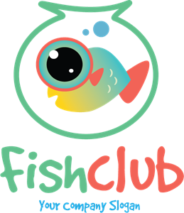 Fish Club Logo Vector