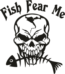 Fish Fear me Logo Vector