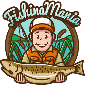 Fishing mania Logo Vector