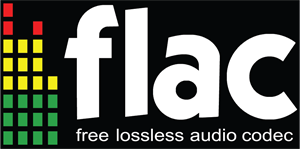 Flac - Free Lossless Audio Codec Logo Vector