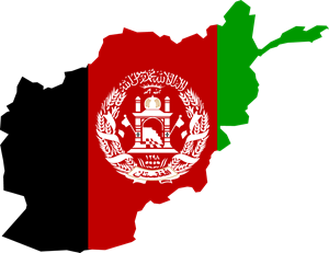 Flag map of Afghanistan Logo Vector