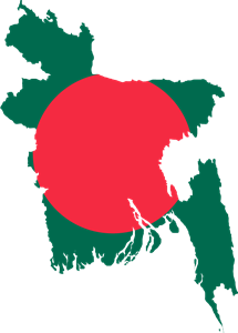 Flag map of Bangladesh Logo Vector